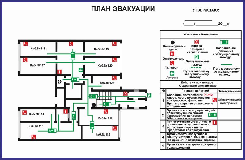 Инструкция Каким Образом Эвакуироваться Из Здания При Задымлении