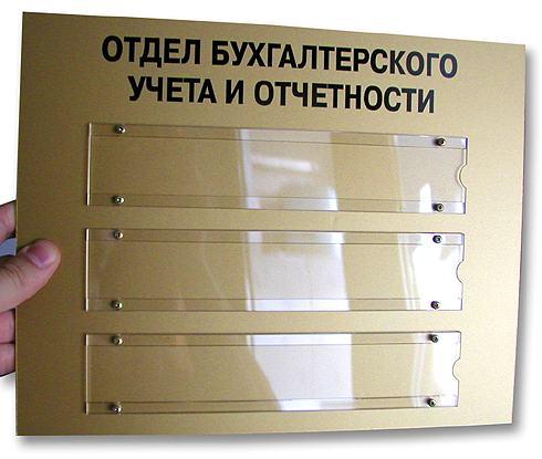 Cменные таблички