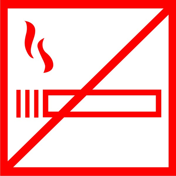 Табличка no smoking